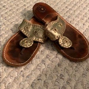Gold Jack Rogers size 4